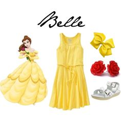 Belle Gown Inspired Casual Girl Outfit