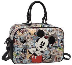Bolso de viaje Mickey modelo Comic de 37 cm, con asa doble y asa tipo bandolera