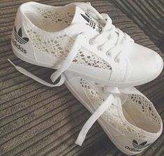 Adidas Women Shoes - shoes black white sports shoes adidas crochet lace sneakers sneakers with lace sneakers lace cute - We reveal the news in sneakers for spring summer 2017 Keds, Cute Shoes, Me Too Shoes, Mode Adidas, Adidas Shoes Women, Lace Adidas Shoes, Best Adidas Shoes, Adidas Shoes Outlet, Sneakers Women