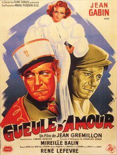 Gueule d'amour est un film français réalisé par Jean Grémillon, sorti en 1937. 1936 : Lucien Bourrache est un beau militaire du régiment de spahis d'Orange. Dans son magnifique uniforme, il affole tous les cœurs de sa ville de garnison, ce qui lui vaut le surnom de « Gueule d'amour ».  Un soir, en permission à Cannes, il tombe amoureux d'une belle femme riche, avec laquelle il va vivre une histoire faite d'attentes, puis de bonheurs simples, et enfin de brouilles de plus en plus graves à ...