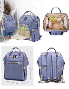 This is the perfect multifunctional diaper bag for the on the go mom!  In seller notes: 1. Bag color 2. Thread color 3. Font selection 4. Personalization Outer material: Waterproof nylon Inner material: Polyester Main zip compartment with deep storage 2 side pockets, one with slit Baby Diaper Bags, Diaper Bag Backpack, Unusual Baby Names, Free Monogram, Unique Baby Shower Gifts, Baby Necessities, Baby Gear, Travel Bag, New Baby Products