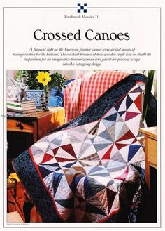 Crossed Canoes Best Loved Quilt Pattern w Flexible Templates   eBay
