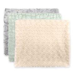 Gold - Textured Faux Fur Reversible Throw - BedBathandBeyond.com