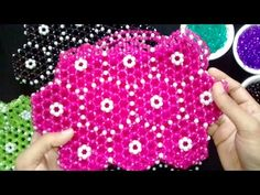How To Make Crystal Beaded Purse  Part-1 || Handmade Beaded Bag Making Tutorials - YouTube