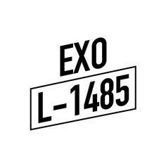 Kpop Exo, Suho Exo, Kpop Logos, Exo Stickers, Exo Anime, Exo Album, Good Notes, Logo Sticker, Aesthetic Stickers