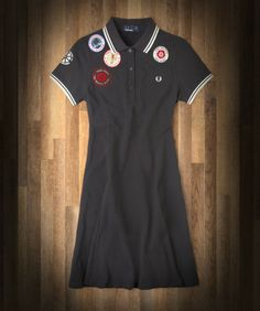 WANT SO BAD!! Fred Perry pique dress cut with a flattering flared hem, inspired by the legendary Northern Soul club, the Twisted Wheel.