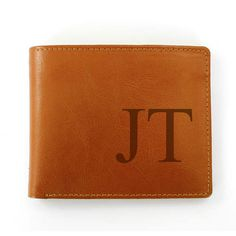 Personalise this genuine leather wallet with any initials of 2 characters (upper case). Wallet includes a Change Holder, 6 Card Slots & Notes Holder. Material is genuine leather. Personalized Leather Wallet, Personalised Gifts For Him, Brown Leather Wallet, Brown Wallet, Brother Birthday, Gifts For Wedding Party, Party Gifts, Best Gifts, Gifts Uk
