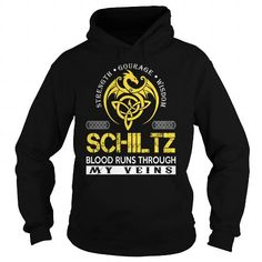 Awesome Tee SCHILTZ Blood Runs Through My Veins (Dragon) - Last Name, Surname T-Shirt T shirts