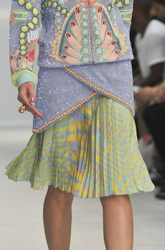 Manish Arora Spring 2014 This may not be utterly ridiculous but it sure is channeling 1980's fugliness and in a sherbet rainbow no less....