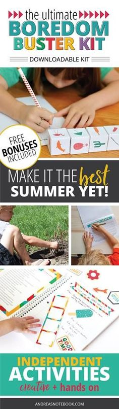 Ultimate Boredom Buster Kit will keep your kids busy and ensure your sanity throughout the summer!