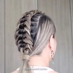 Easy Hairstyles For Long Hair, Braids For Short Hair, Pretty Hairstyles, Braided Hairstyles, Short Hair Styles, Viking Hairstyles, Updo Hairstyle, Wedding Hairstyles, Cheveux Lagertha