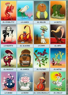 A digital design Loteria game. Cards can be downloaded for personal use. Also available for Android or iPhone.