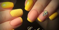 When you hear about the stars, watermelons, beaches, this means the Summers are here and wheeheee! your nails are ready to play in the summer colors too! Orange Nail Designs, Cute Nail Designs, Classy Nails, Trendy Nails, Nail Deco, Yellow Nail Art, Gel Nagel Design, Dipped Nails, How To Grow Nails