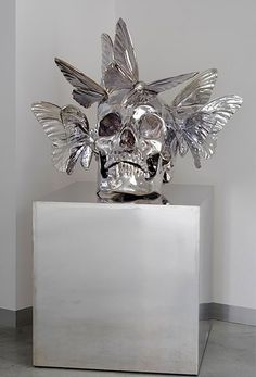 Human skulls made into elaborate art by Philippe Pasqua - Lost At E Minor: For creative people
