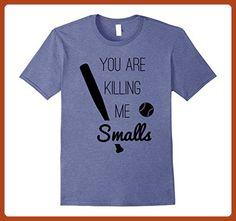 Mens You are killing me smalls Funny Softball Shirt Softball Mum XL Heather Blue - Funny shirts (*Partner-Link)