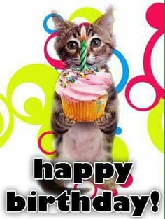 I wish you a beautiful day with lots of love and happiness! Birthday Words, Cat Birthday, Birthday Blessings, Happy Birthday Dear, Kawaii Cat, Birthday Greetings, Homemade Cards, Beautiful Day, Birthdays