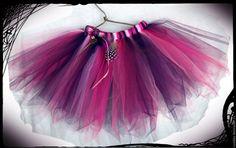 """Купить Юбка туту """"Ведьмочка"""" - фиолетовый, в полоску, пышная юбка, юбка из фатина, новогодняя юбка"""