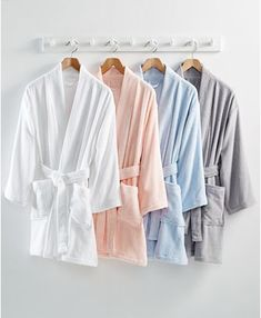 Martha Stewart Collection Cotton Terry Bath Robe, Created for Macy's & Reviews - Macy's