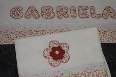 Fraldas para bebes Patch handmade red flower baby