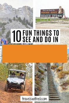 There are so many fun things to do and see in the Black Hills of South Dakota and Mount Rushmore is just one. Rent side-by sides, watch a shoot-out in Deadwood, take a helicopter ride over Crazy Horse Memorial, drive the Needles Highway through Custer State Park. This guide will help you blan your Black Hills South Dakota trip. #travelswitheli Road Trip With Dog, Road Trip Usa, Travel With Kids, Family Travel, Needles Highway, Deadwood South Dakota, Crazy Horse Memorial, Custer State Park, Travel Information