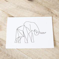 "Graphic animals ""Elephant"" Art print - Designed by Dieuwertje van der Linden"