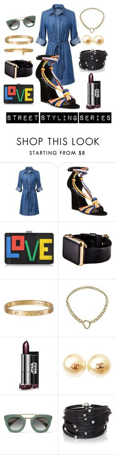 """""""Street Styling Series"""" by luxurycitizen on Polyvore featuring Pierre Hardy, Les Petits Joueurs, Hadoro, Cartier, Tiffany & Co., Chanel, Prada and Sif Jakobs Jewellery"""