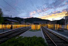 Kimono Forest Lights Up Kyoto's Arashiyama Station