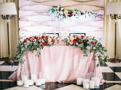 Wedding sweetheats table