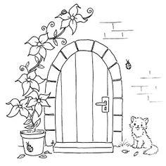 freebie.... front door.... cut around the door so that it opens to reveal something behind it!
