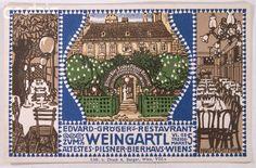 Advertisement for a Viennese Restaurant by Hans Kalmsteiner