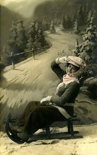 The Sum Of All Crafts: image collection-women (outerwear) Christmas Images, Kids Christmas, Riding Habit, Vintage Photos Women, Antique Christmas, All Craft, Sled, Outerwear Women, Image Collection