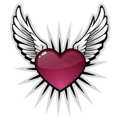 Image result for flying hearts decor valentines tattoos