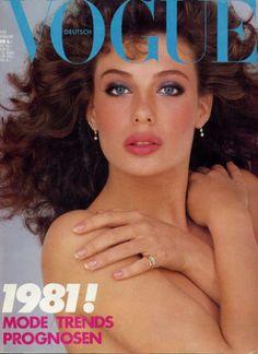 Kelly LeBrock, Vogue Deutsch, January 1981