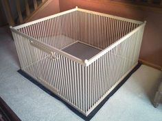 Indoor Wooden Dog Play Pen | Dog, Dog fence and Pup
