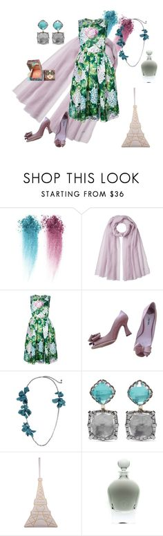 """""""Hints at the first date"""" by jenna-hanssen ❤ liked on Polyvore featuring NARS Cosmetics, Agnona, Dolce&Gabbana, Miu Miu, Lanvin, Larkspur & Hawk, Charlotte Olympia, EB Florals and Benefit"""
