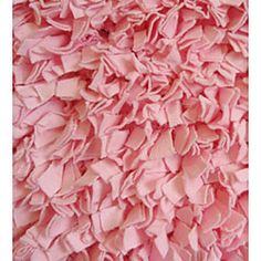 Attractive Soft Cotton Pink Shag Rug (4u00277 X 7u0027)