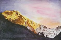 Nothing is better than mountains #watercolor #landscape #painting #mountains