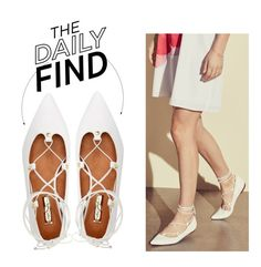 """""""The Daily Find: Halogen Flats"""" by polyvore-editorial ❤ liked on Polyvore featuring Halogen and DailyFind"""