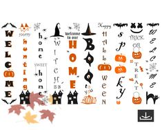 Halloween Porch Sign Bundle, Halloween Svg, Halloween Vertical Sign, Commercial use,  Instant Download, Halloween porch sign, Halloween sign by Atelier240 on Etsy Halloween Porch, Halloween Signs, Tree Svg, Silhouette Studio Designer Edition, Porch Signs, Silhouette Cameo, Commercial, Clip Art, Creative