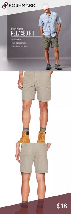 Sz 40 Wrangler Authentics Mens Utility Hiker Short Product Features 100% Cotton Imported Machine Wash Utility short featuring cargo pockets and elastic band at back waist Slanted hand pockets at front Wrangler Shorts Cargo