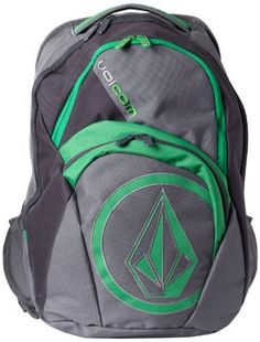 Volcom Men's Purma Backpack, Dark Gray, One Size Volcom. $21.50. Machine Wash. Dimensions, 19,75 x 13,25 x7,75-inch , 50 x 33,5 x 20cm. Volcom four compartment backpack with stone applique and volcom embroidery. Weight, 1,4lbs, 0,64 kg. Volume, 31 liters. V,co-logical collection and 1-percent for the planet member. 100% Polyester. Save 59% Off!