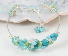 Guitar String Bracelet Turquoise Bracelet by LaurieRobertsJewelry