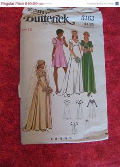 SALE UnCut 1970's Butterick Sewing Pattern 3163 by EarthToMarrs, $7.50