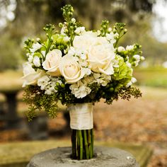 I love the greenery in this bouquet. This takes would be perfect for a romantic feel set outdoors.