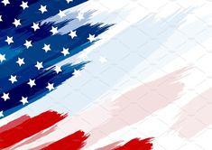 USA or american flag paintbrush on white background vector illustration American Flag Background, Paint Brushes, Graphic Illustration, Branding Design, Usa, Camilla, Creative, Corporate Design, Identity Branding