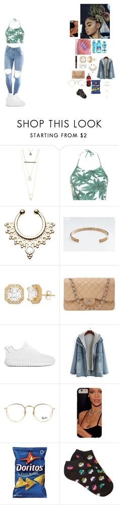 """""""- make you feel -"""" by foodislyfe ❤ liked on Polyvore featuring Charlotte Russe, Motel, Chanel, Ray-Ban and Forever 21"""