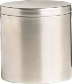 stainless steel canister with lid in bath accessories | CB2