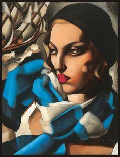 Tamara de Lempicka - The Blue Scarf, 1930