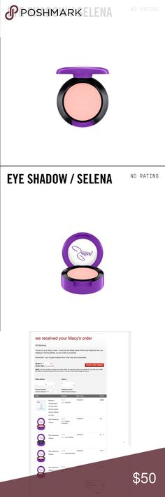 COMING SOON! MAC Selena eyeshadow Missing My Baby LIMITED EDITION MAC Selena eye shadow in Missing My Baby. Took a very long time, but was able to get from Macy's online release. Please keep negative comments to yourself, kthanks! Will ship as soon as I receive it! MAC Cosmetics Makeup Eyeshadow