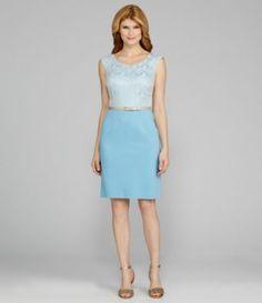 Antonio Melani Crone Cap-Sleeve Belted 2-Fer Dress   Dillards.com